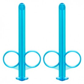 Набор из 2 голубых шприцев для введения лубриканта Lube Tube
